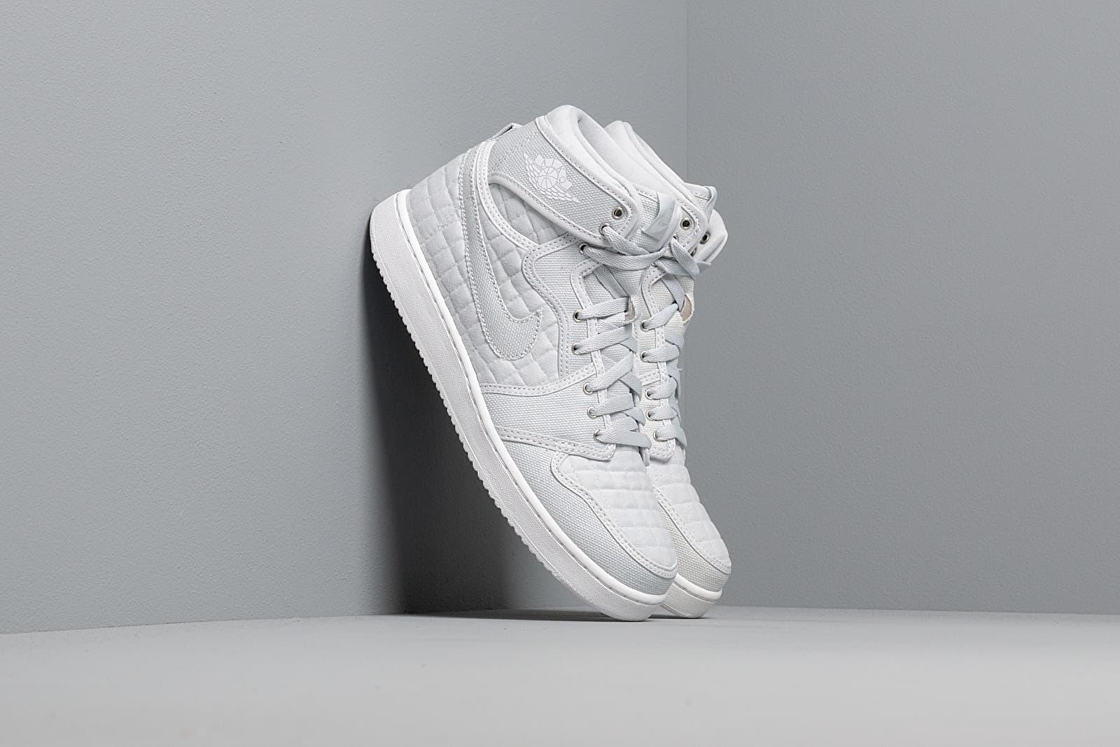 Pánské tenisky a boty Air Jordan 1 KO High OG Pure Platinum/ White-Metallic Silver