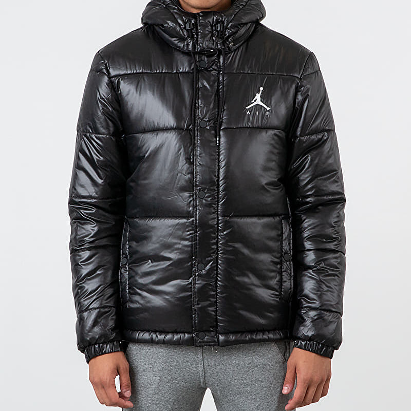 Jordan Jumpman Puffer Jacket Black White footshop.eu