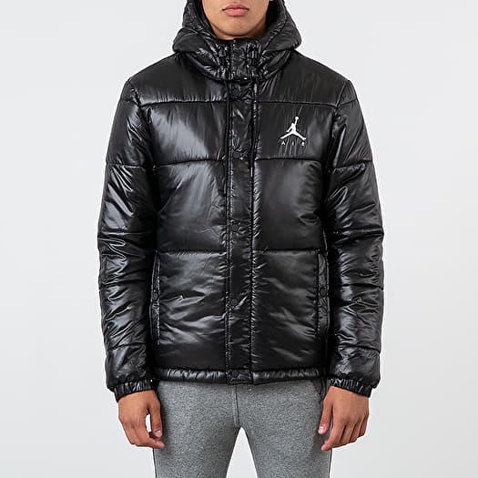 Jordan Jumpman Puffer Jacket Black White | Footshop