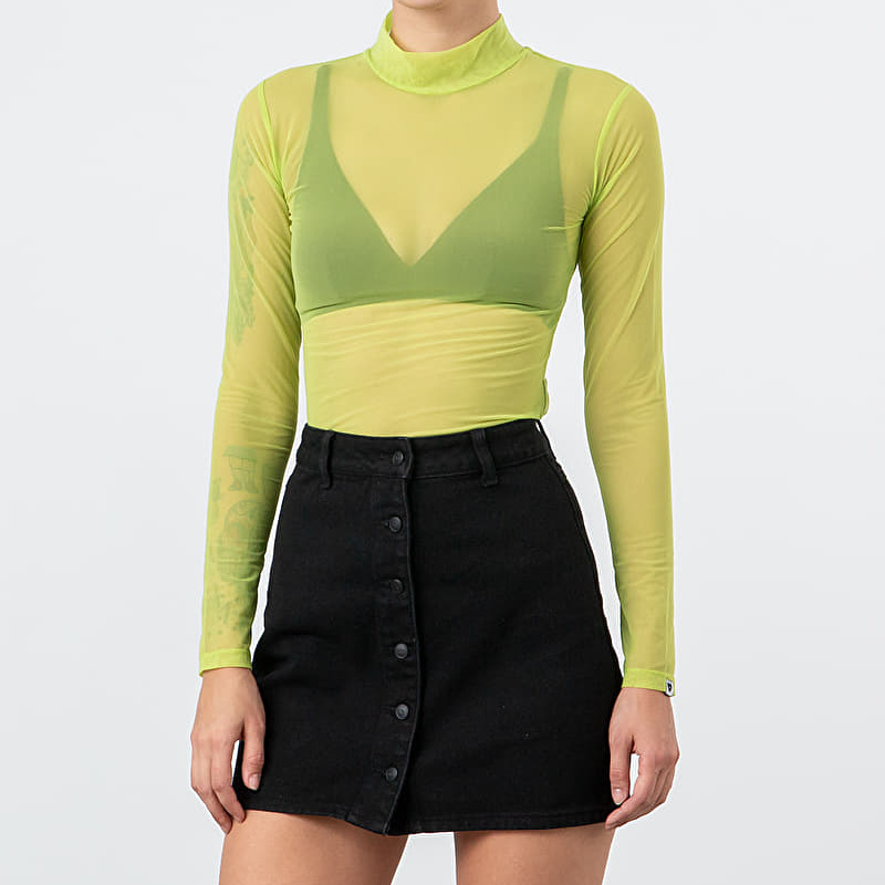Lazy Oaf Sheer Turtleneck Lime