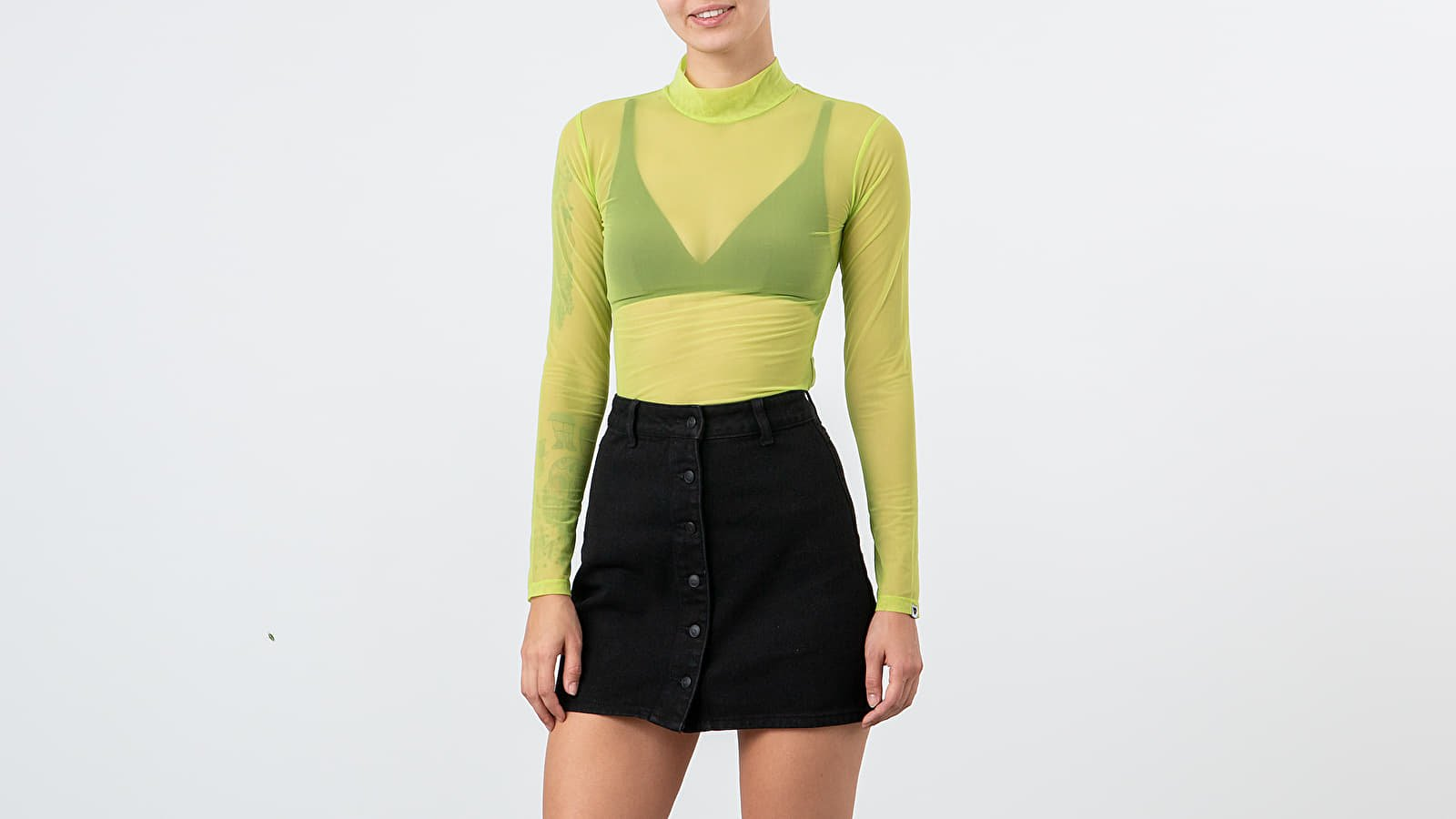 Felsők Lazy Oaf Sheer Turtleneck Lime