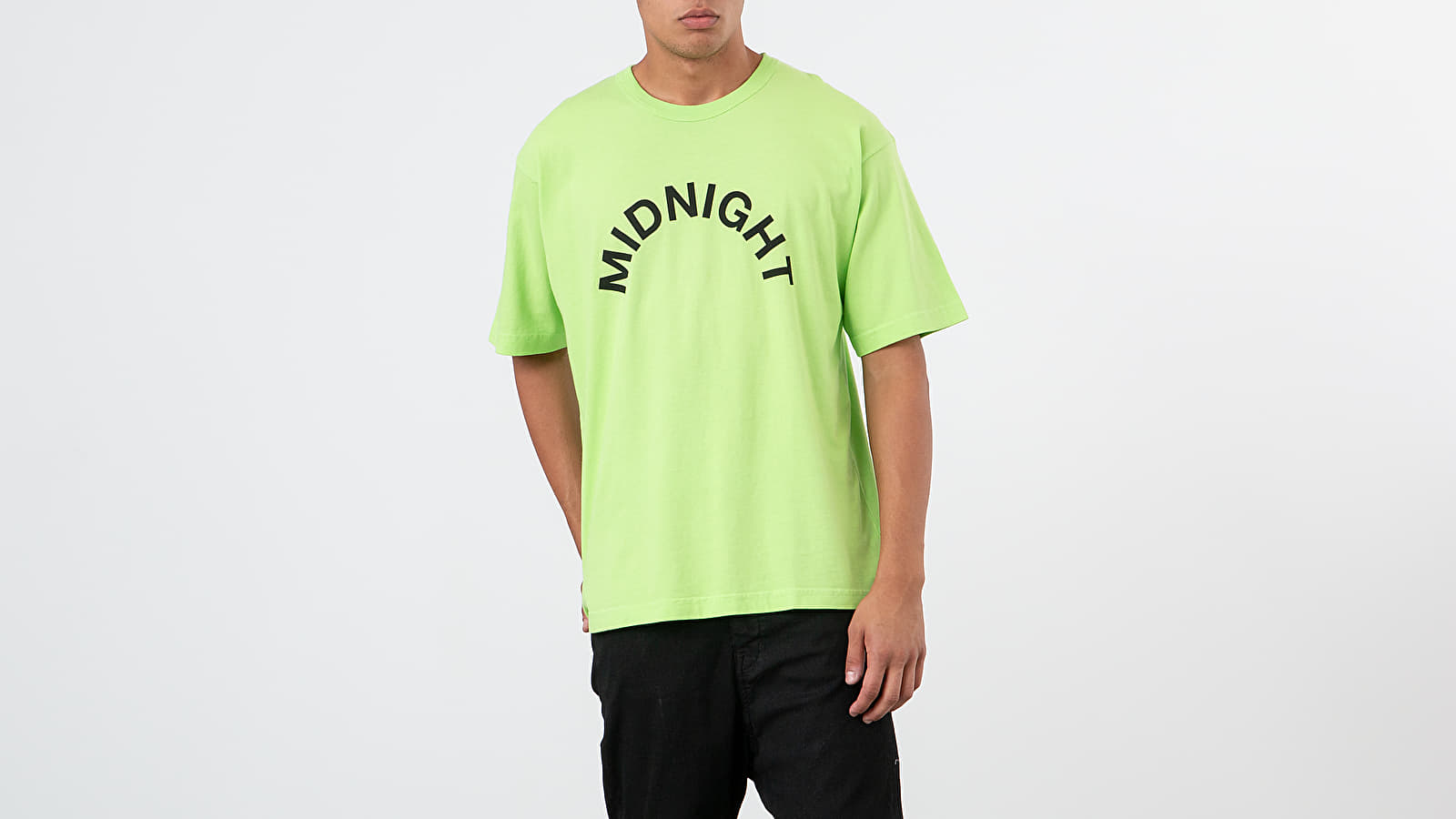 Тениски Midnight Studios Logo Tee Electric Green