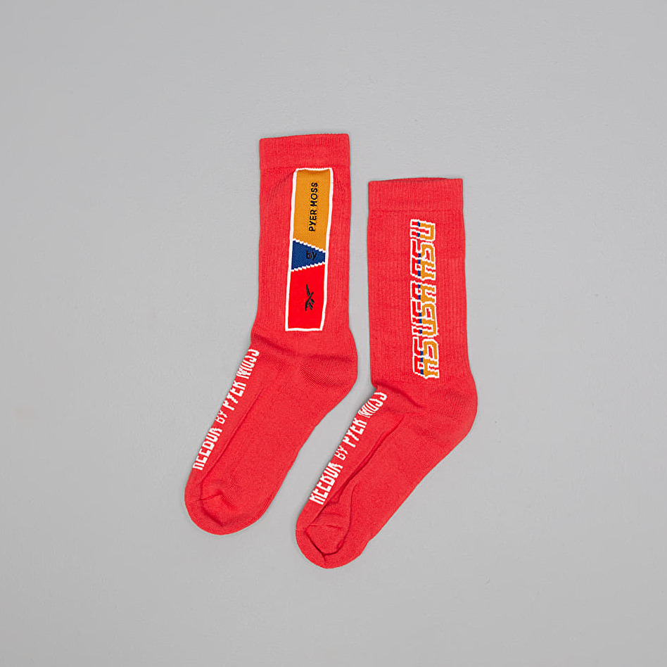 Reebok by PYER MOSS Crew Socks Reb Red