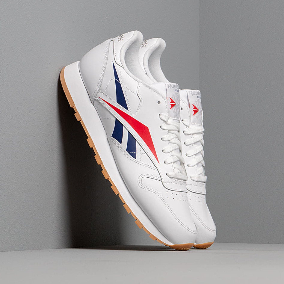 Reebok Cl Leather Mu White/ Scarlet/ Blue EUR 44.5