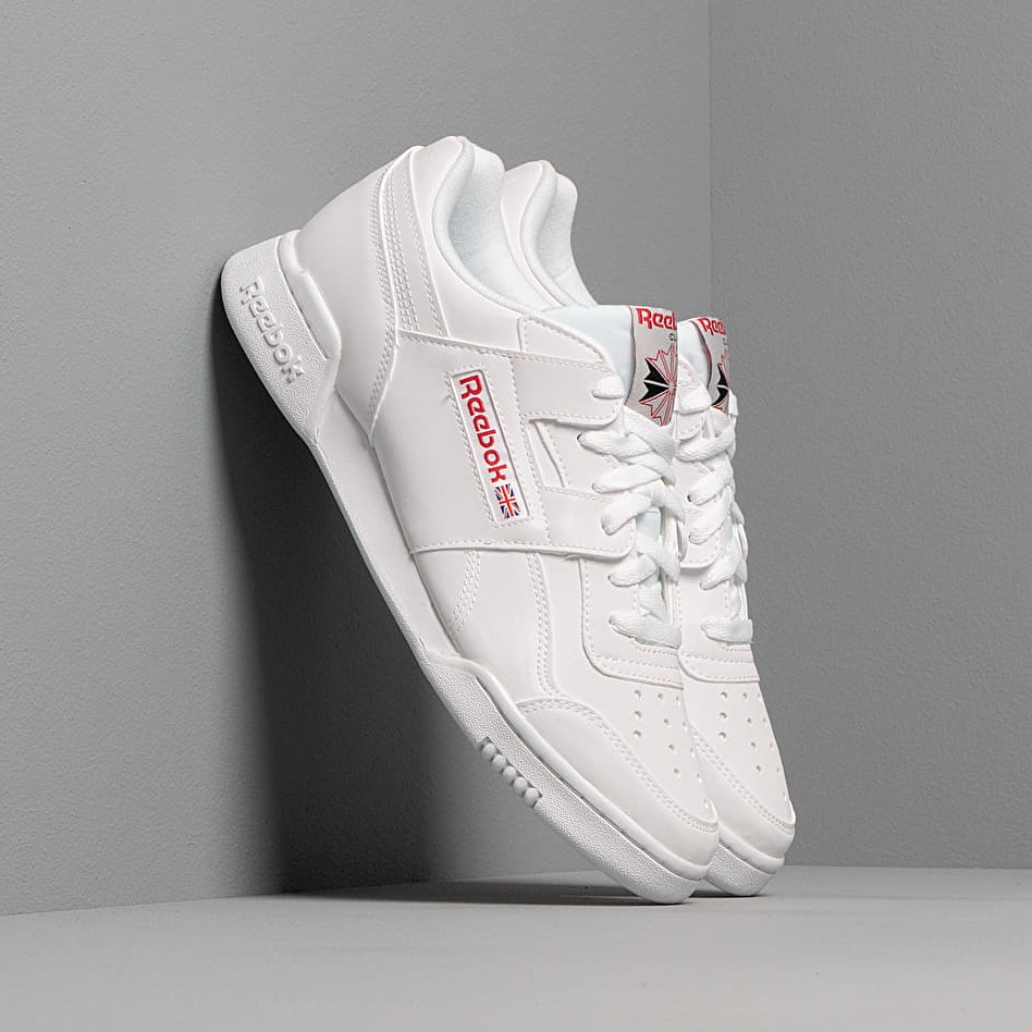 Reebok Workout Plus Mu White/ Skull Grey/ Red