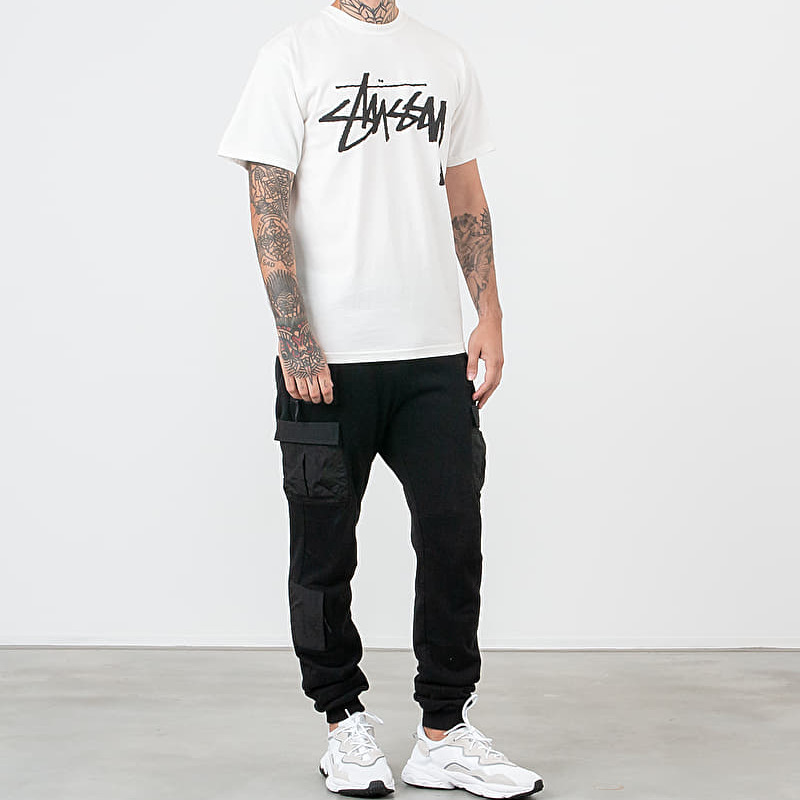 Stüssy Stock Pig. Dyed Tee Natural, White