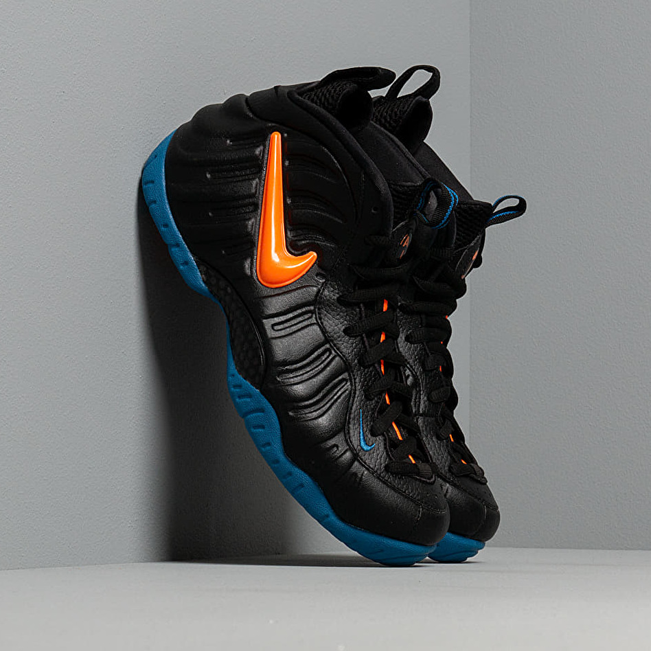Nike Air Foamposite Pro Black/ Total Orange-Battle Blue EUR 43