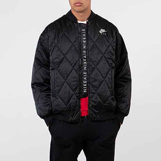 Nike Sportswear Air Syn Fill Satin Jacket Black Black White