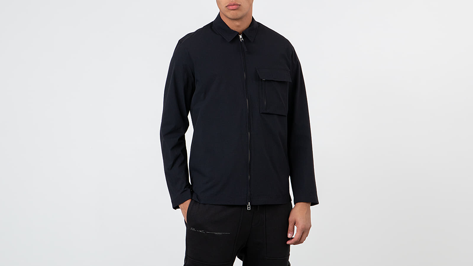 Dzsekik Norse Projects Jens Zip Dry Nylon Jacket Dark Navy
