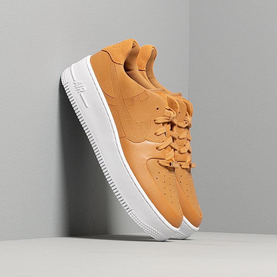 Nike W Air Force 1 Sage Low LX Wheat/ Wheat-Metallic Gold-White