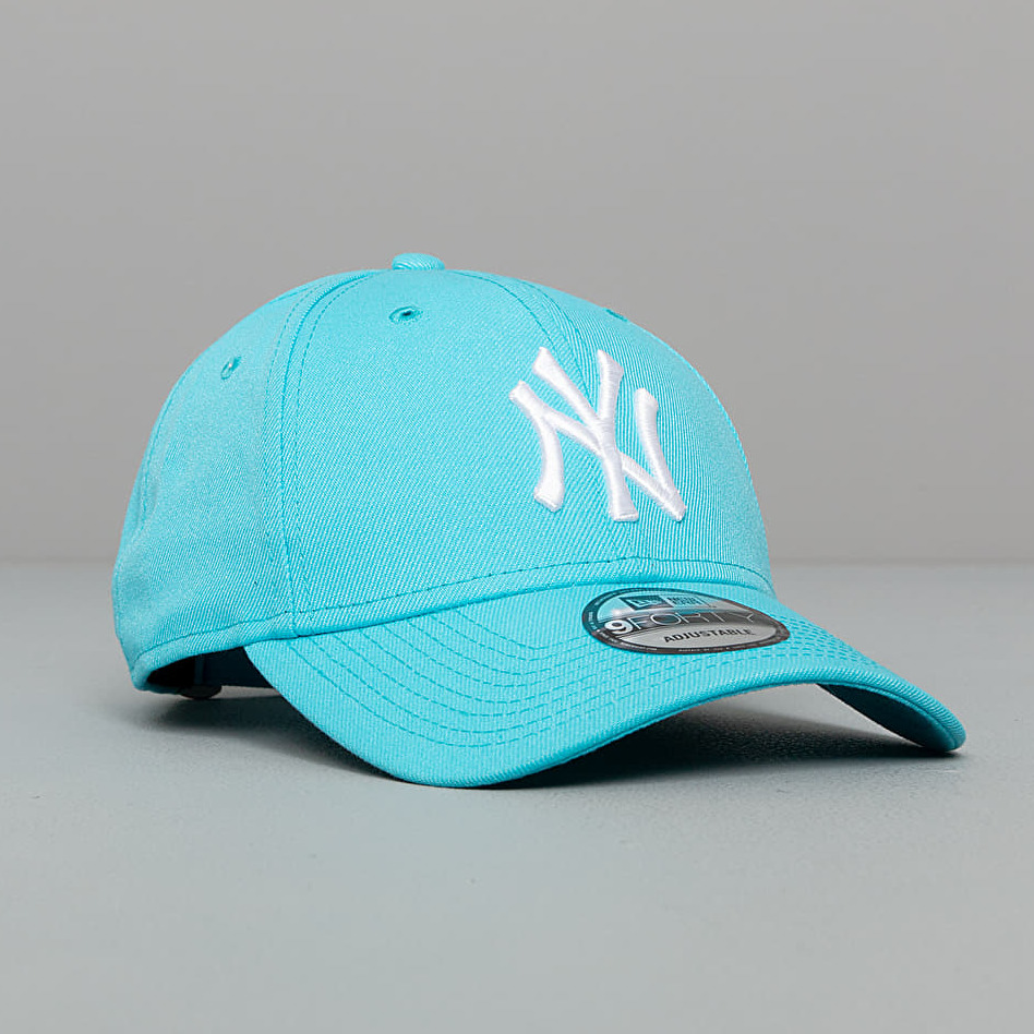 New Era 9Forty MLB Basic New York Yankees Cap Neon Blue Univerzální velikost