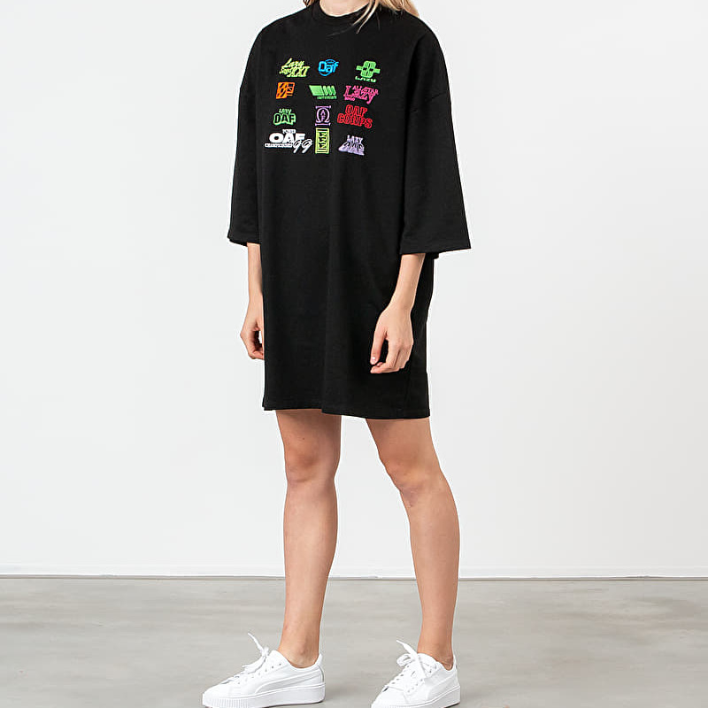 Lazy OAF Playing Games Tee Dress Black