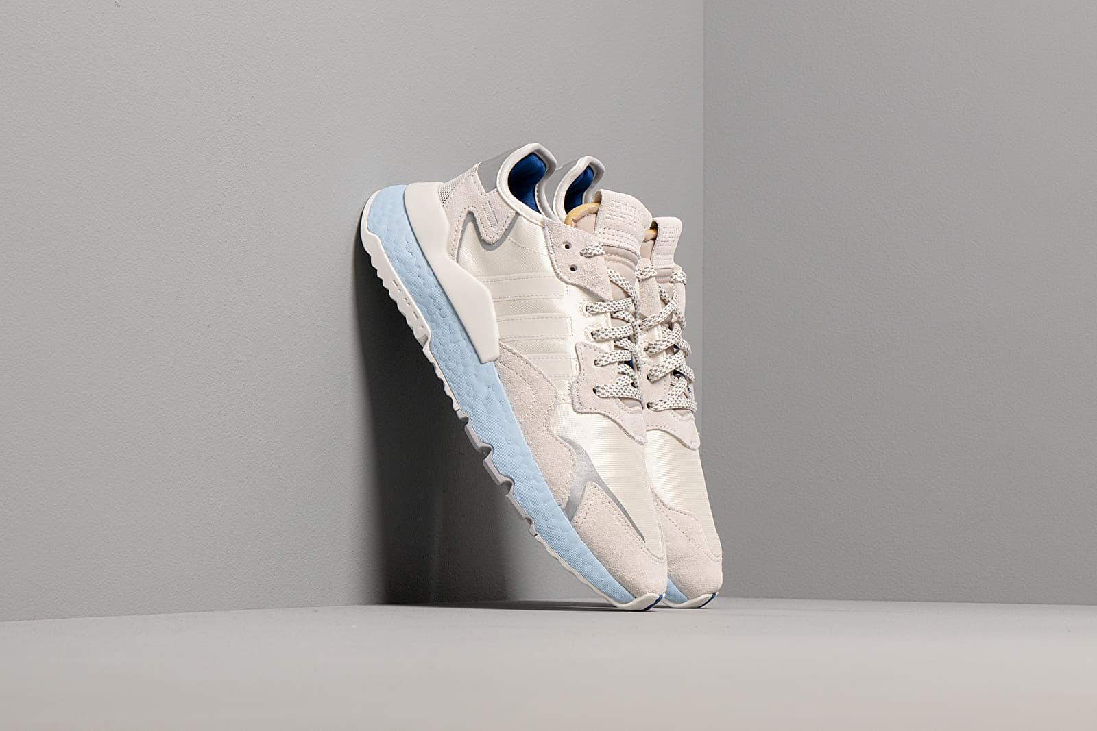 Women's shoes adidas Nite Jogger W Off White/ Off White/ Glow Blue