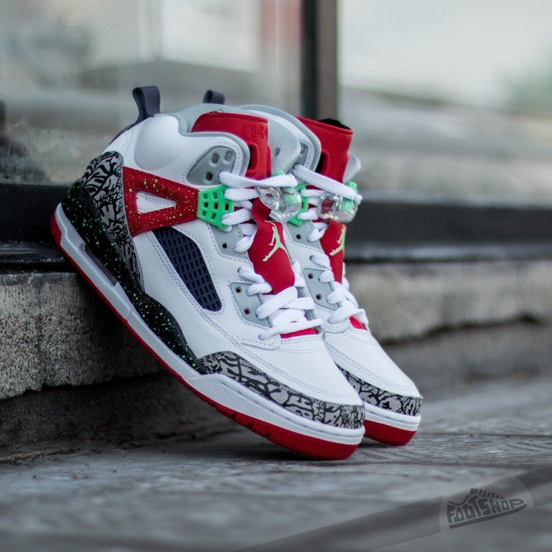 53bbd4c54842 Jordan Spizike White Light Poison Green-University Red-Grey Mist ...