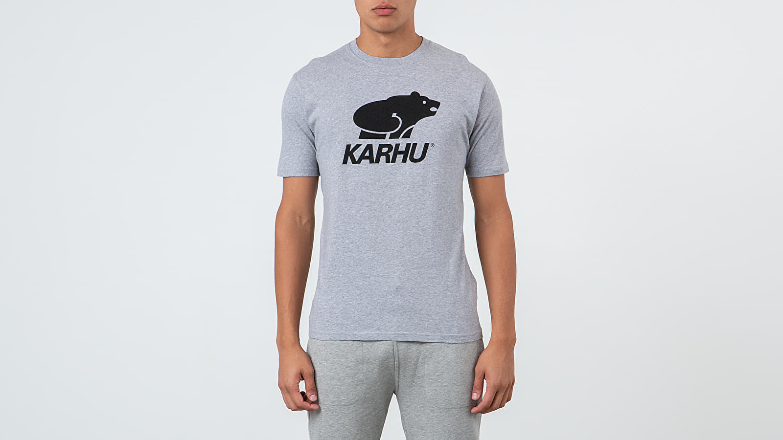Trička Karhu Basic Logo Tee Heather Grey/ Black