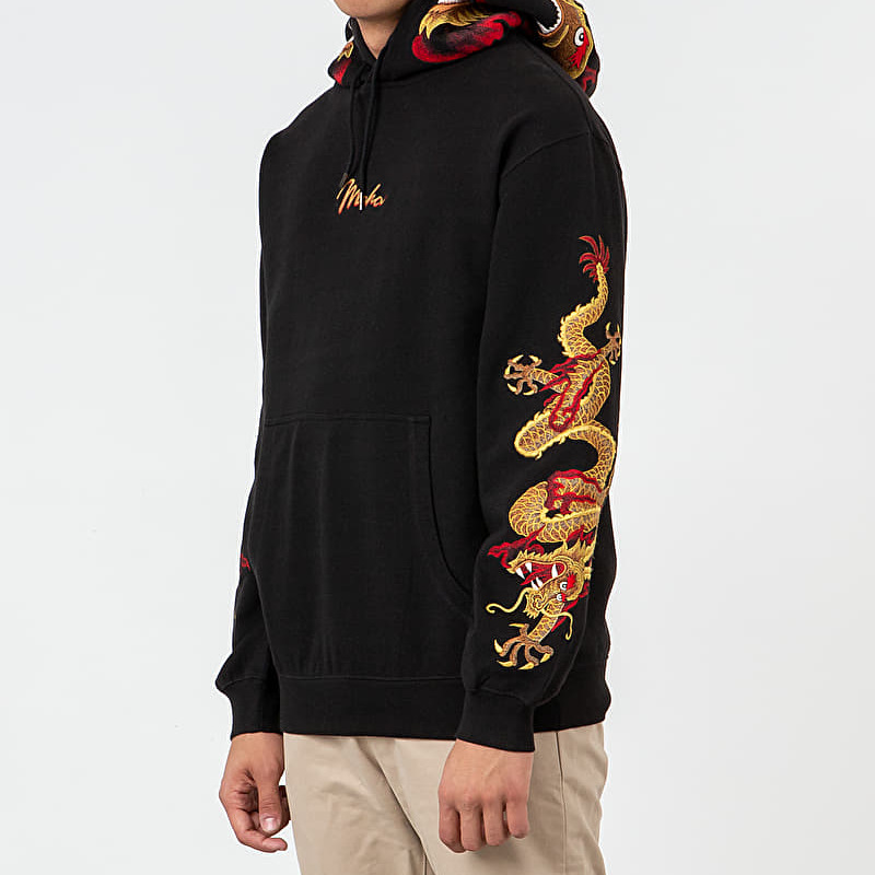 maharishi Golden Sun Dragon Hoodie Black Gold