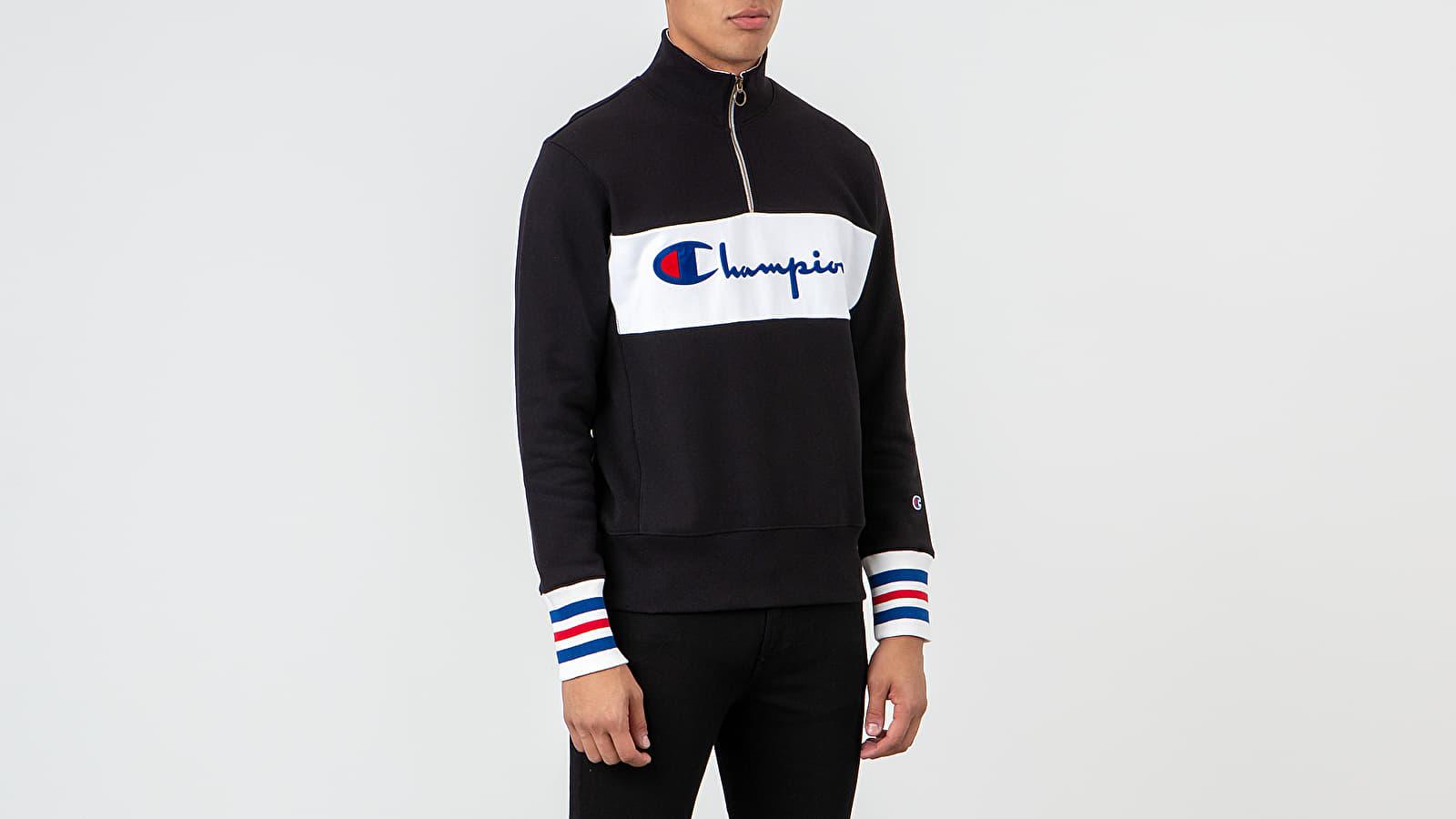 Sweatshirts Champion Half Zip Crewneck Black