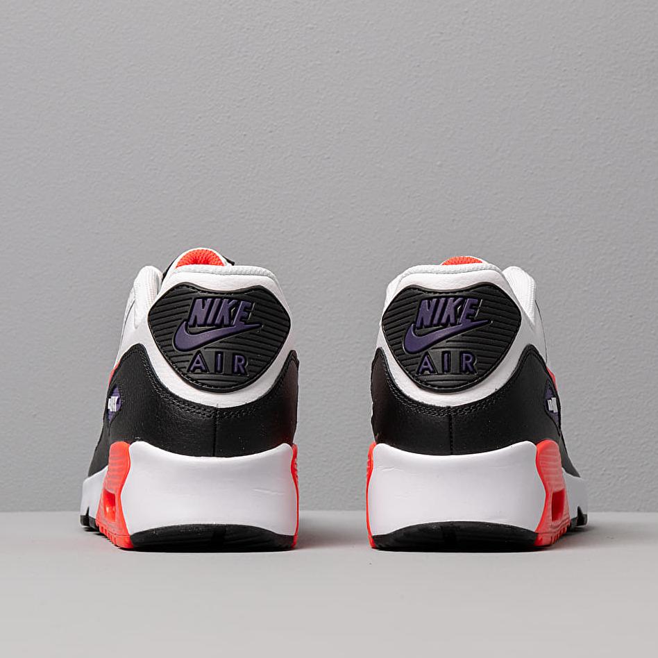 Nike Air Max 90 Leather (GS) White/ Bright Crimson-Black-Court Purple
