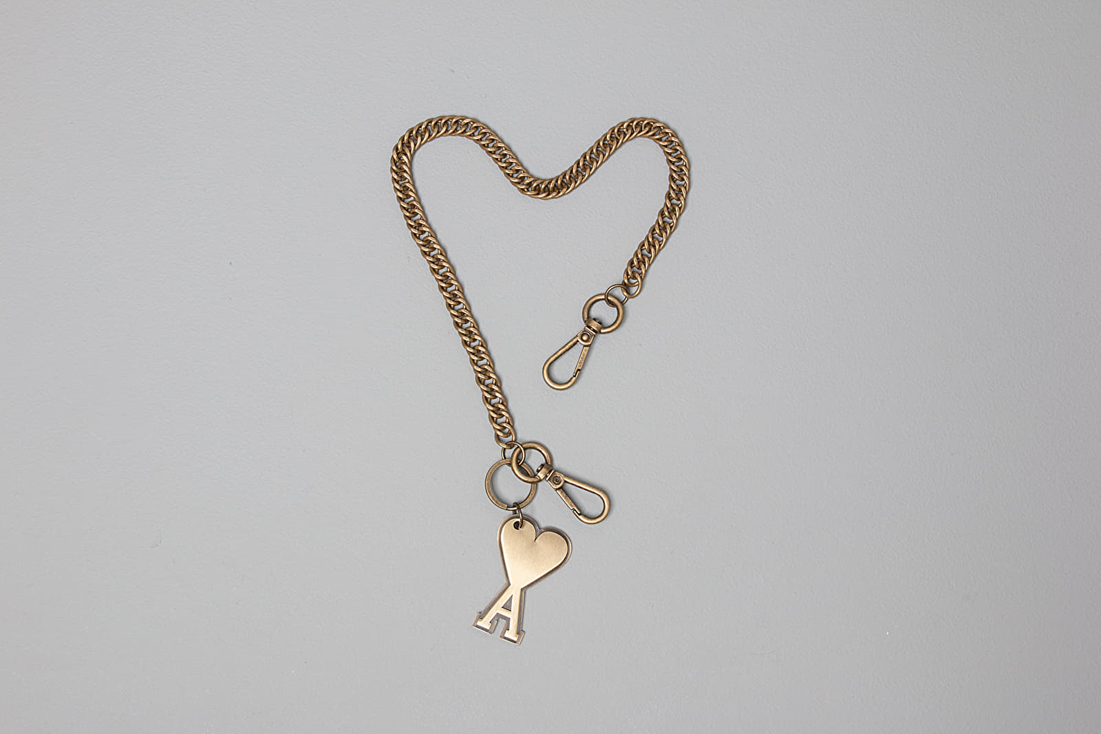 AMI Alexandre Mattiussi Chain De Coeur Key Ring And Chain