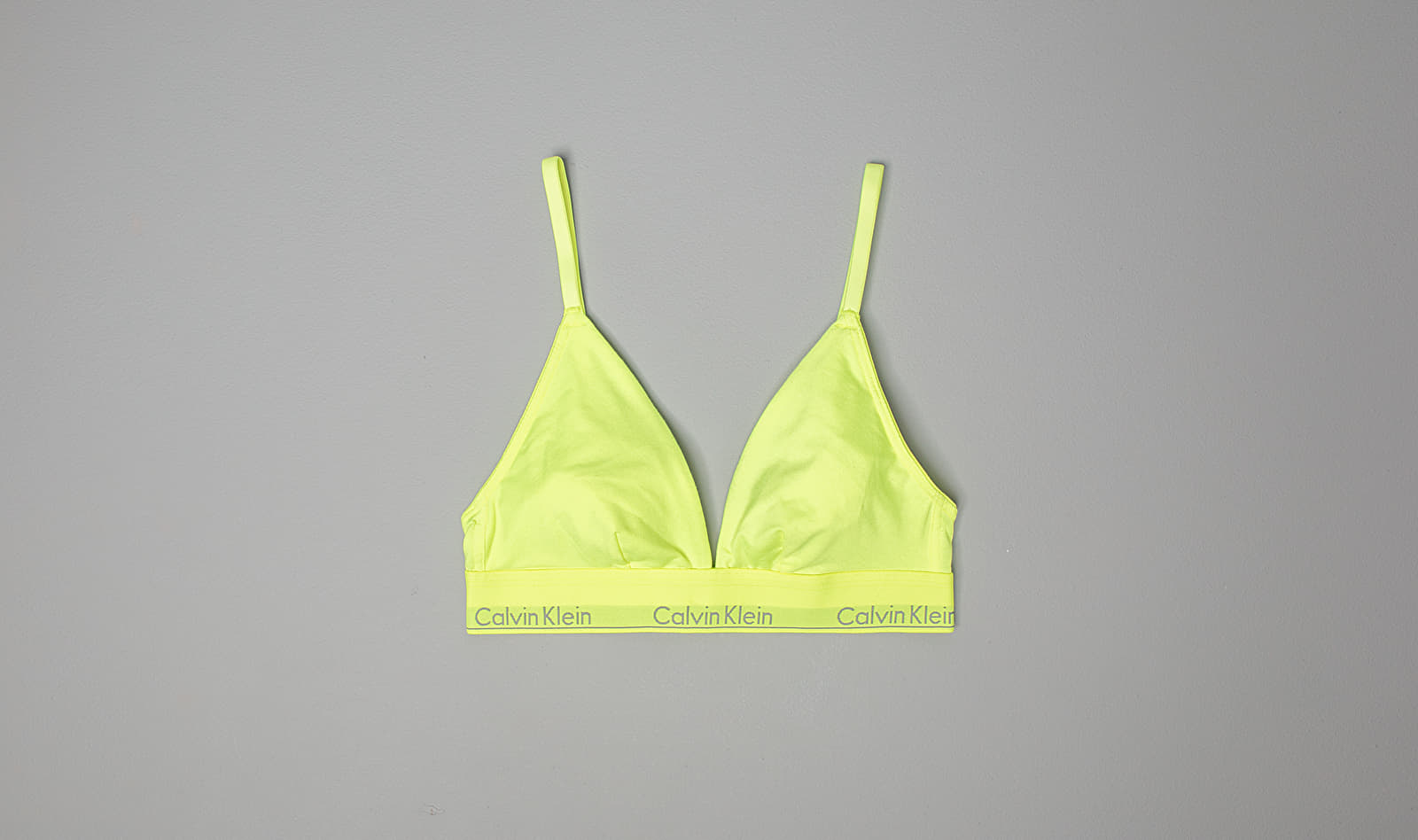 Calvin Klein Unlined Triangle Bra Caution Tape