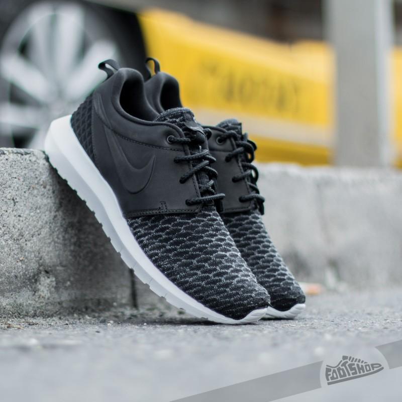 2c7290f6c4e9 Nike Roshe NM Flyknit Premium Black  Dark Grey-White