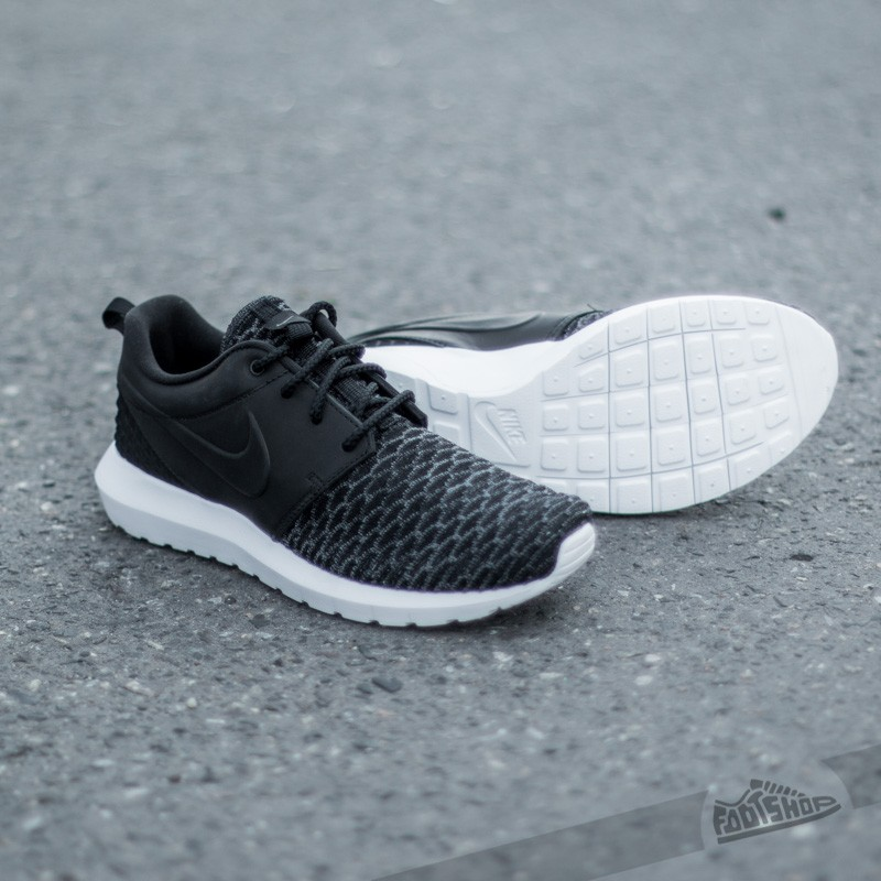 Nike Roshe NM Flyknit Premium Black Dark Grey White | Footshop