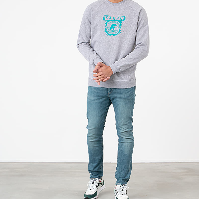 Karhu 1916 Logo Crewneck Heather Grey/ Fanfare, Gray