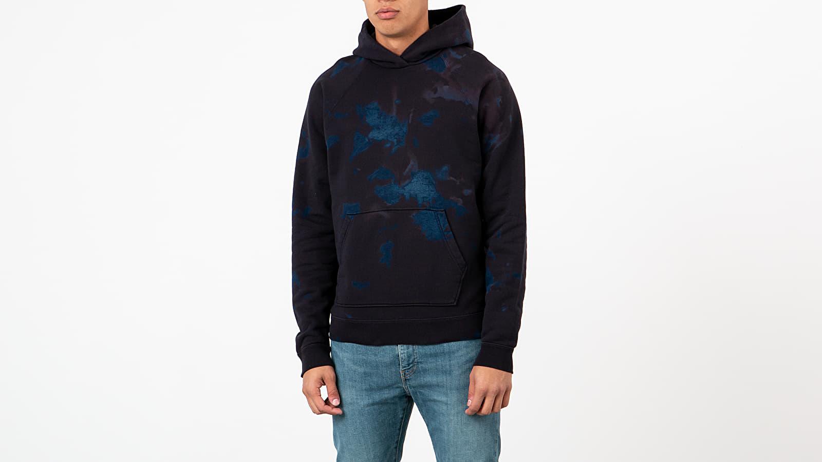Sweatshirts John Elliott Double Dye Raglan Hoodie Indigo/ Black