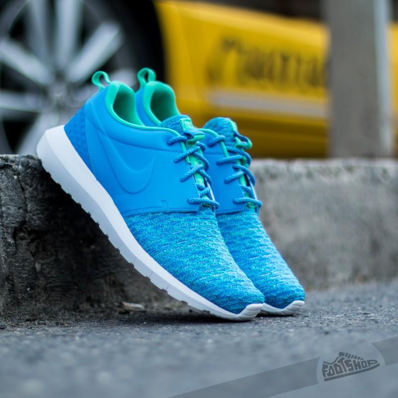 72f4662ba9c7c Nike Roshe NM Flyknit Premium Photo Blue  Soar-Atomic Teal ...