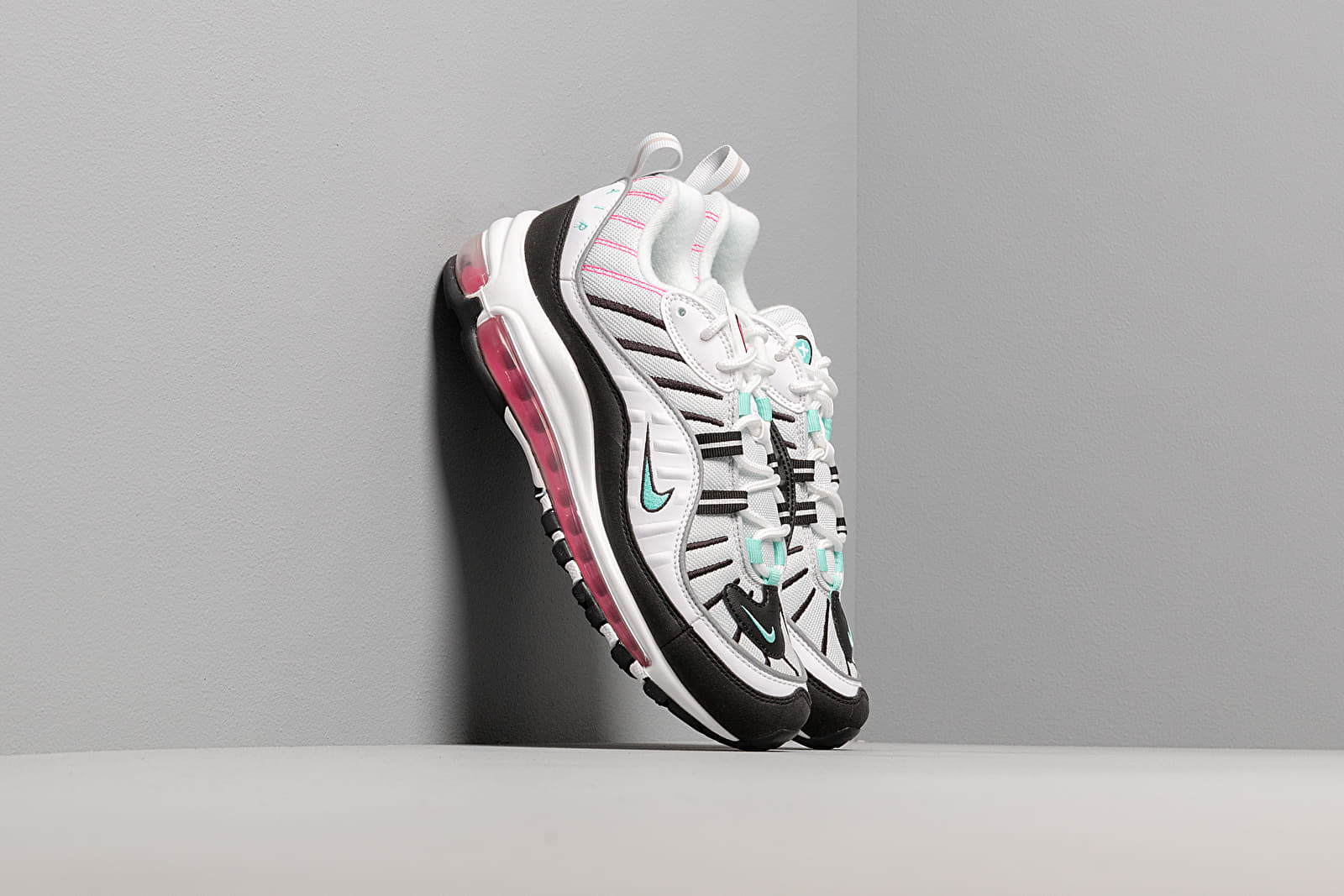 Dámske topánky a tenisky Nike W Air Max 98 Pure Platinum/ Aurora Green-Black