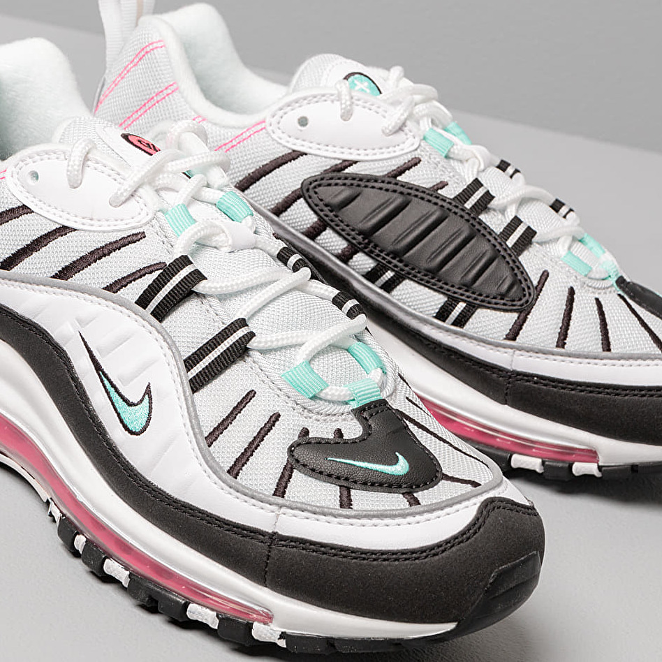 Nike W Air Max 98 Pure Platinum/ Aurora Green-Black, Gray