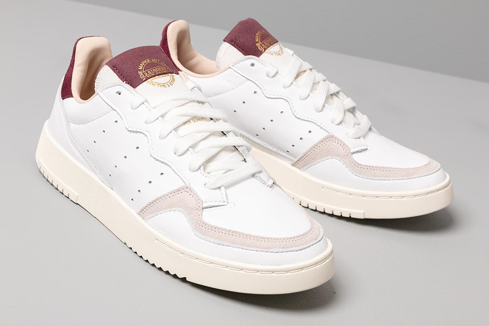 adidas Supercourt WFtw White Ftw White Maroon