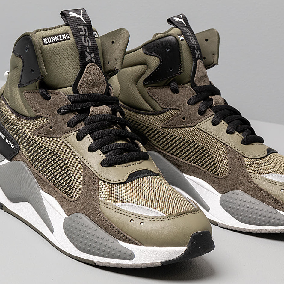 Puma Rs-X Midtop Utility Burnt Olive-Forest Night, Green