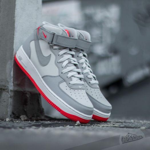 Nike Air Force 1 Mid ´07 Premium Platinum Wolf Grey Bright
