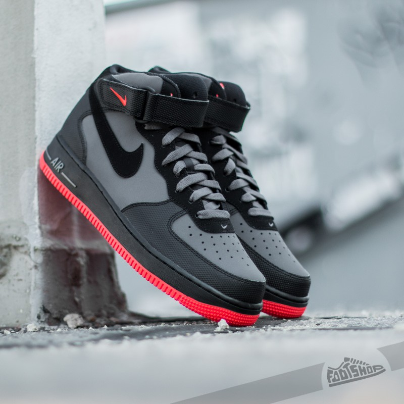 ea08d5cf47c Nike Air Force 1 Mid ´07 Dark Grey  Black-Bright Crimson