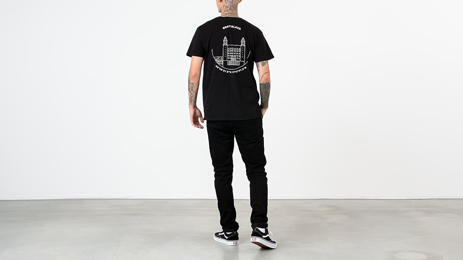 T-Shirts Footshop Bratislava Tee Black