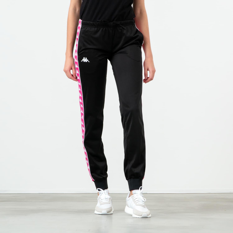 Pants and jeans Kappa Banda Wrastoria Slim Pants Black/ Fuchsia