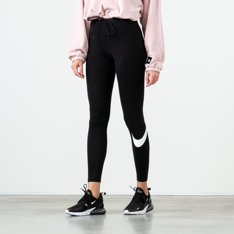 Džíny a kalhoty Nike Sportswear Club Legging Black/ White