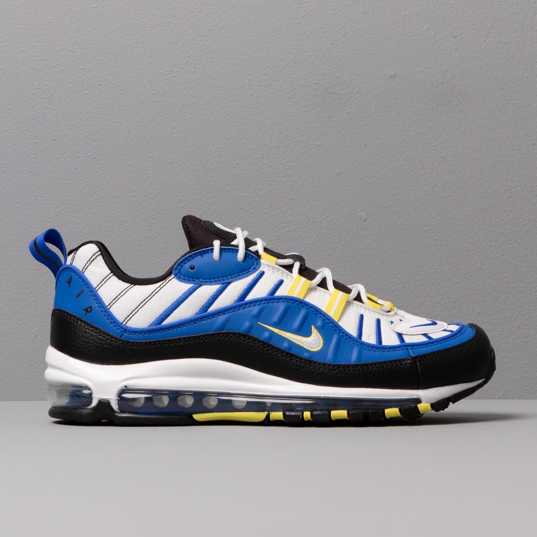 Nike Air Max 98 Racer Blue White Black Dynamic Yellow   Footshop