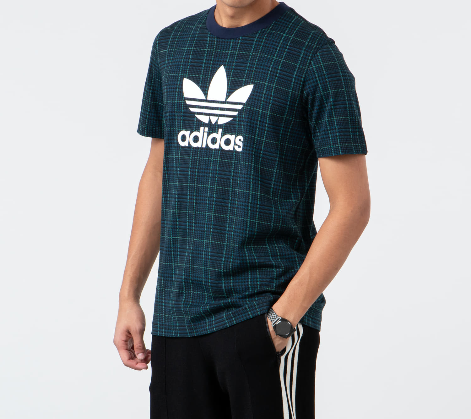 adidas Tartan AOP Tee Multicolor/ Collegiate Navy, Multicolour
