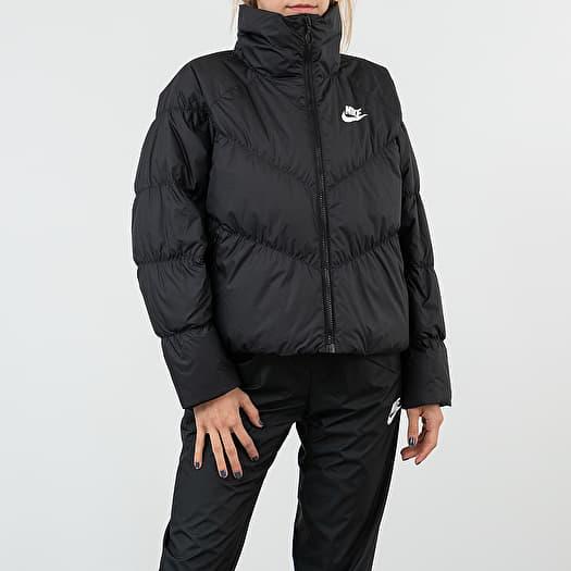 Down Fill Statement Jacket Black/ White