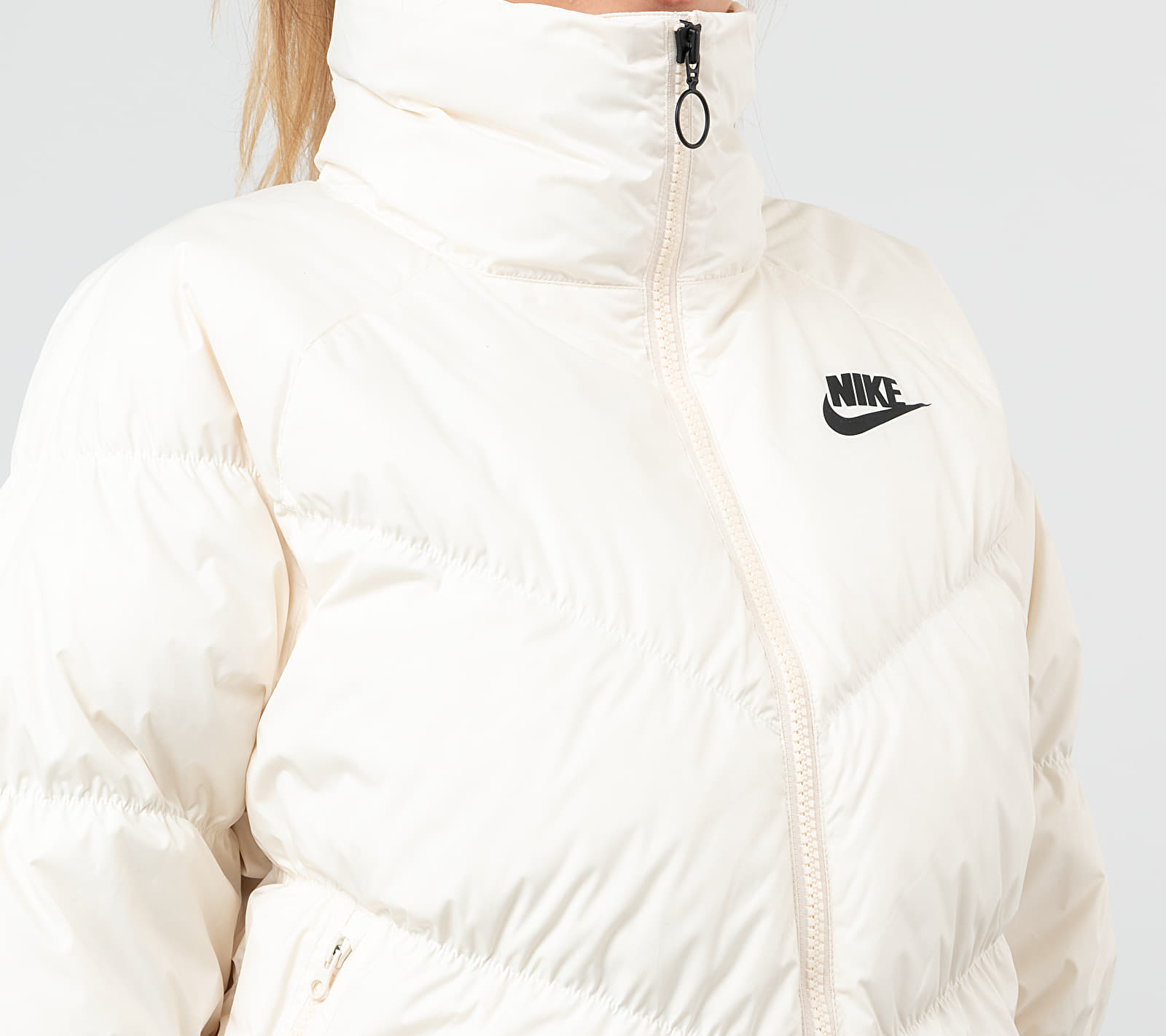 Nike Sportswear Down Fill Statement Jacket Pale Ivory/ Black, White
