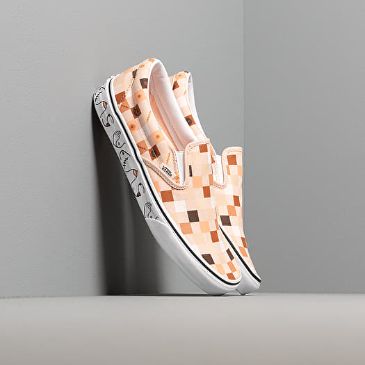 Vans Breast Cancer Awareness Classic Slip On Nude Check True White | Footshop