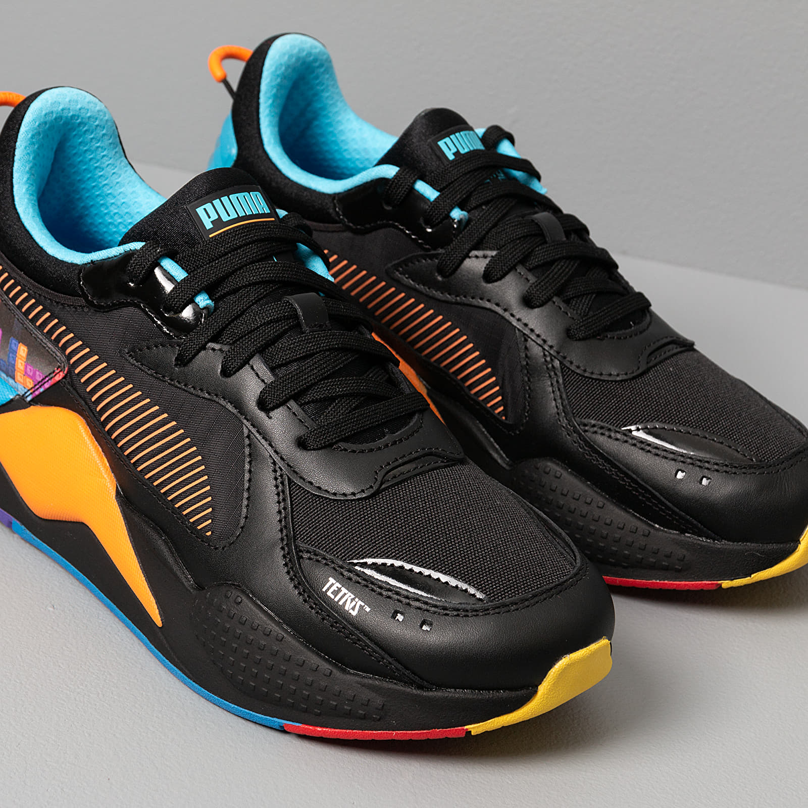 Puma x Tetris RS X Puma Black Luminous Blue | Footshop