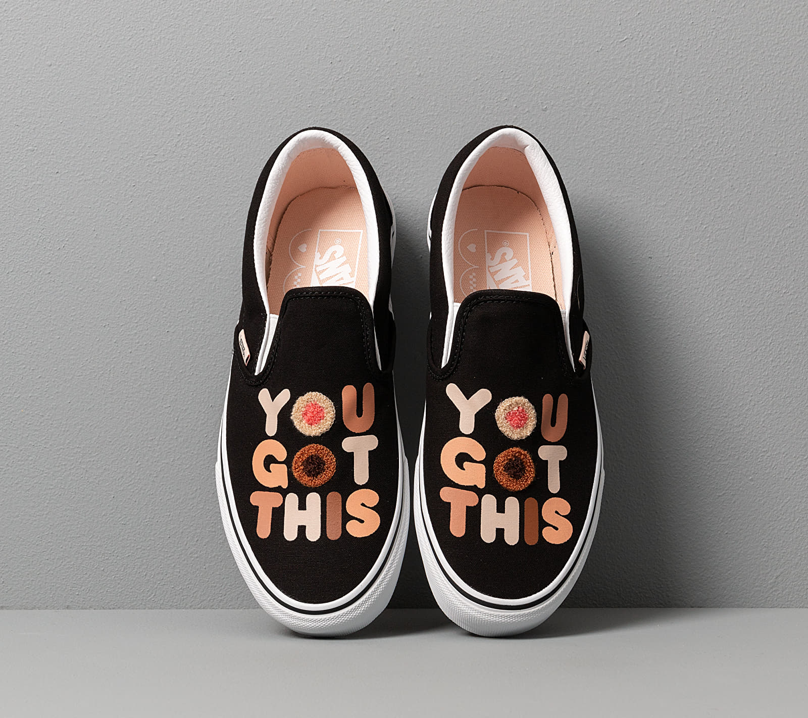 Vans Breast Cancer Awareness Classic Slip-On You Got This/ True White, Multicolour