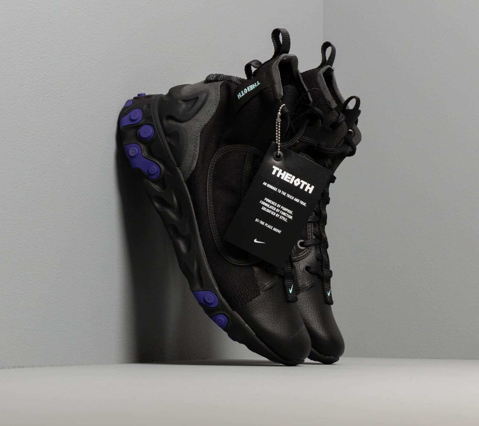 Nike React Ianga Black/ Light Aqua-Anthracite-Court Purple EUR 43