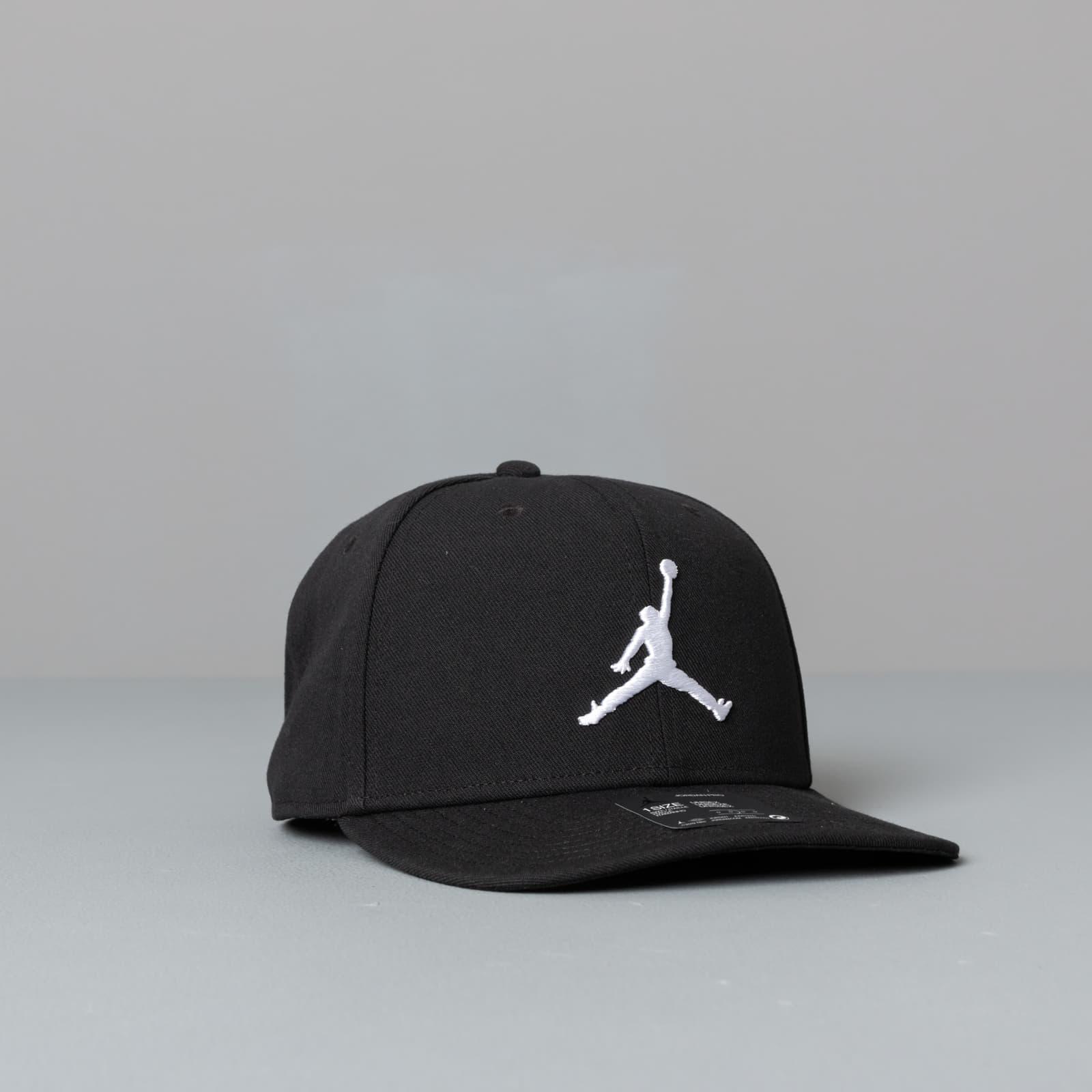 Abbigliamento Jordan Pro Jumpman Snapback Black/ Black/ Black/ White