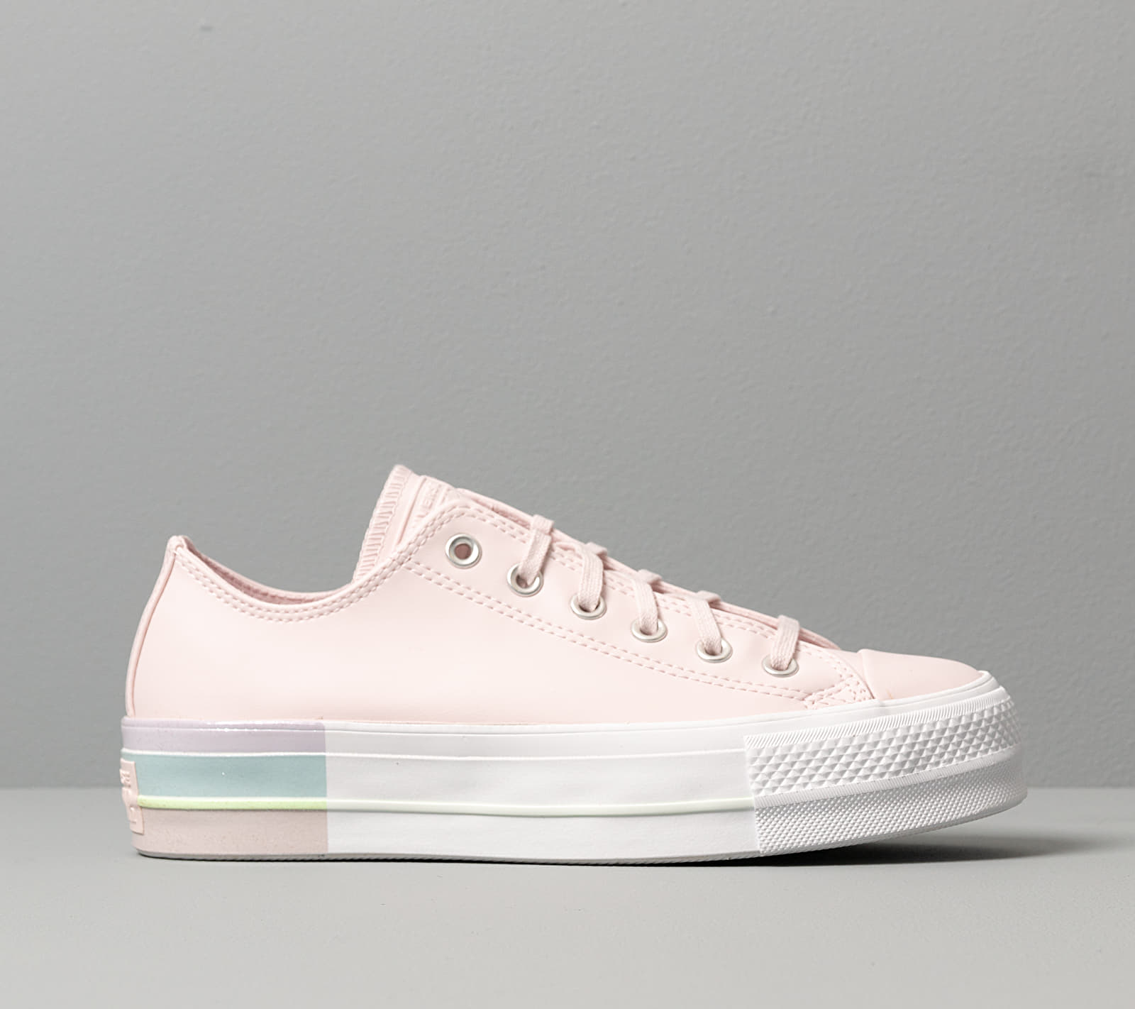 Converse Chuck Taylor All Star Lift Rainbow Midsole Barely Rose/ Polar Blue, Pink