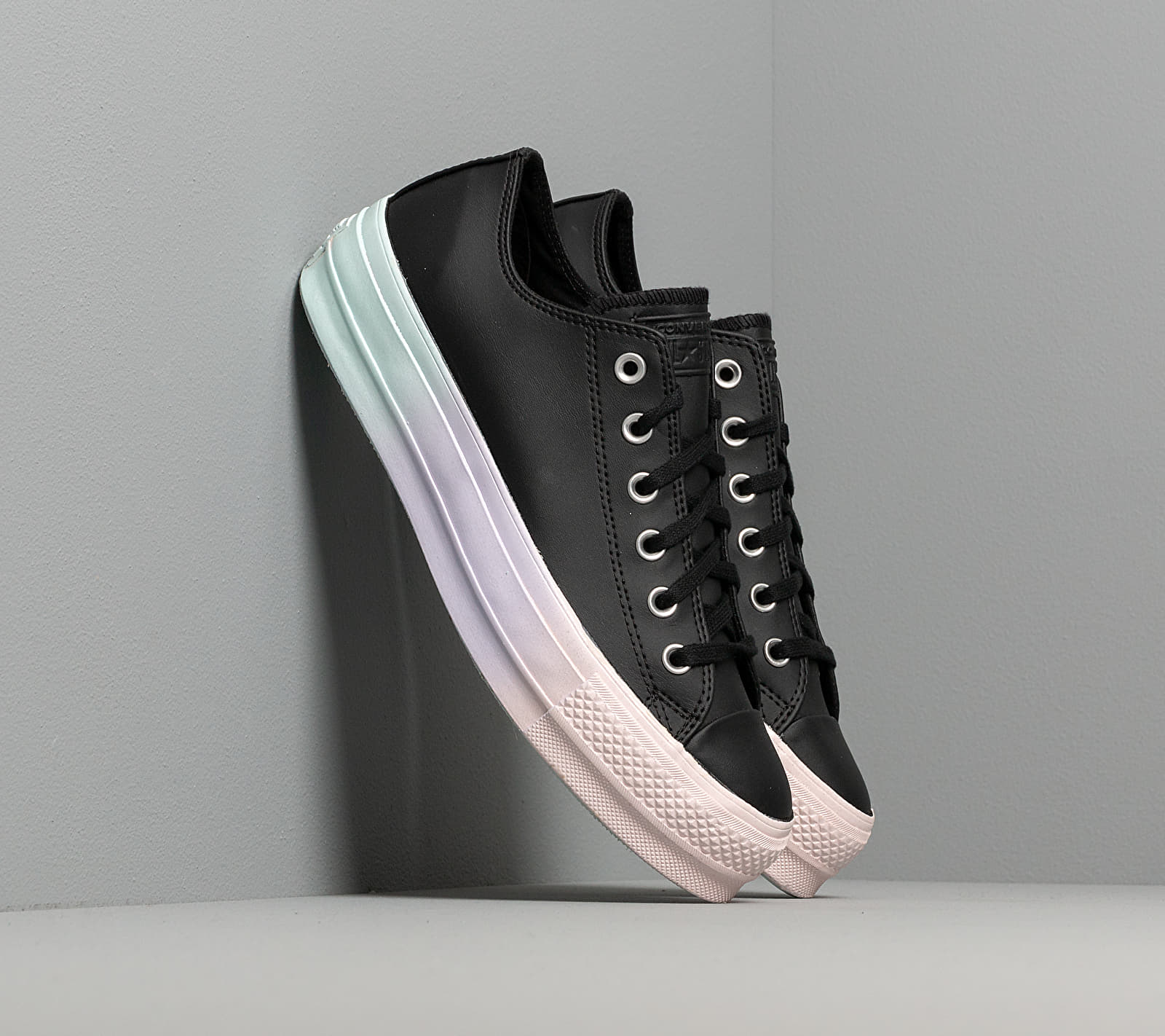 Converse Chuck Taylor All Star Lift Rainbow Midsole Black/ White/ Polar Blue