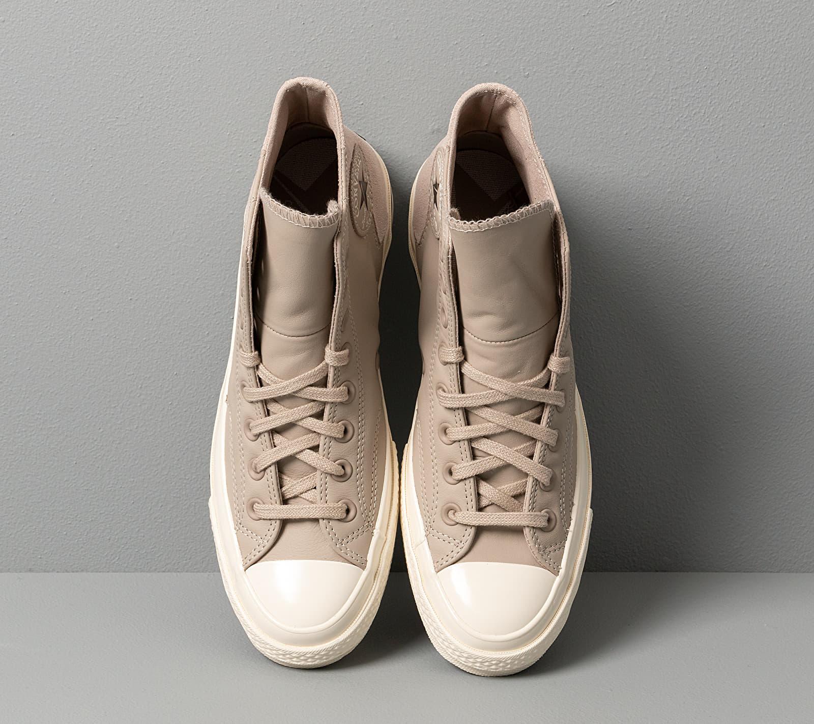 Converse Chuck 70 Vltg Leather And Suede Papyrus/ Papyrus/ Egret, Brown